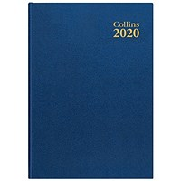 Collins 2020 A5 Diary, Week to View, Blue