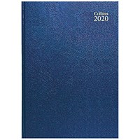 Collins 2020 A4 Diary, Day Per Page, Blue