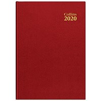Collins 2020 A5 Diary, Day Per Page, Red