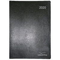 Collins Leadership 2020 A4 Diary, Week to View Appointment - Black