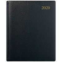 Collins Quarto 2020 Business Appointment Diary, Week to View, Black