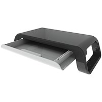 Contour Ergonomics Monitor Stand with Drawer Black CE05539