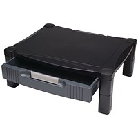 Contour Ergonomics Adjustable Monitor Stand with Drawer Black