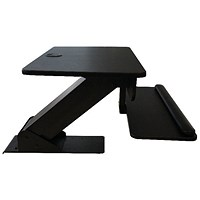 Contour Ergonomics Sit-Stand Workstation Black