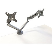 Contour Ergonomics Double Monitor Arm Silver