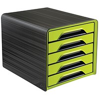 CEP Smoove 5 Drawer Module Black/Green (Made from 100% recyclable polystyrene)
