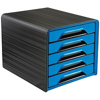 CEP Smoove 5 Drawer Module Black/Blue (Made from 100% recyclable shock resis polystyrene)