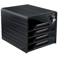 CEP Smoove Secure 4 Drawer Module with Lock Black