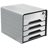 CEP Smoove Secure 4 Drawer Module with Lock White
