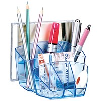 CEP Ice Blue Desk Tidy (W158 x D143 x H93mm) 580I Blue