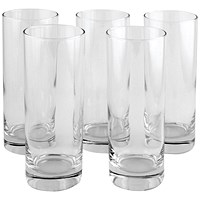 Clear Tall Tumbler Drinking Glass 36.5cl (Pack of 6)