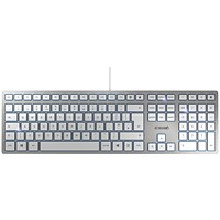 CHERRY KC 6000 Slim Ultra Flat Wired Keyboard Silver/White