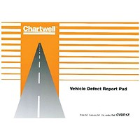 Chartwell Tachograph Vehicle Defect Report Pad - 50 Sheets