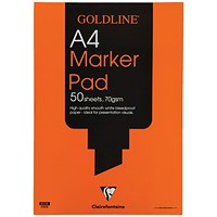 Goldline Marker Pad, A4, Bleedproof, 70gsm, 50 Sheets