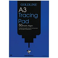 Goldline Professional Tracing Pad, A3, 90gsm, 50 Sheets