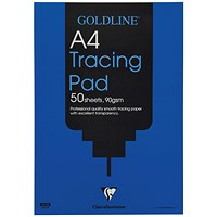 Goldline Professional Tracing Pad, A4, 90gsm, 50 Sheets