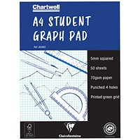 Chartwell Graph Pad, A4, 5mm Quadrille, 50 Sheets