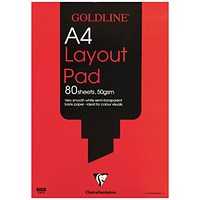 Goldline Layout Pad, A4, 50gsm, 80 Sheets