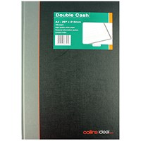 Collins Ideal A4 Book Double Cash 192 Pages (Double cashed ruling, fully case bound) 6424