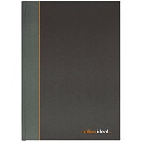 Collins Ideal A4 Book Single Cash 192 Pages (single cashed ruling, fully case bound) 6421