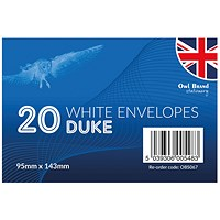 Duke Envelopes x 20 White (Pack of 24)