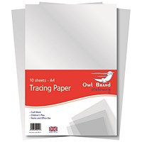 A4 Tracing Paper, 100 Sheets - Pack of 10