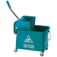 Mobile Mop Bucket and Wringer 20 Litre Green 101248GN