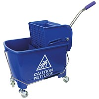 Mobile Mop Bucket and Wringer 20 Litre Blue 101248BU