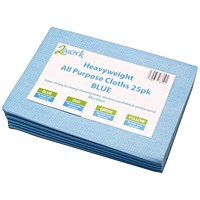 2Work Heavyweight Cloth 500x350mm Blue (Pack of 25) CCBV50ARL