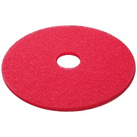 3M Buffing Floor Pad 380mm Red (Pack of 5) 2nd RD15