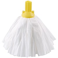 Exel Big White Mop Head Yellow (Pack of 10) 102199YL