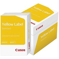 Canon Yellow Label Multifunctional Paper, White, 80gsm, A4, Box (5 x 500 Sheets)