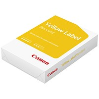 Canon A3 Yellow Label Multifunctional Paper, White, 80gsm, Ream (500 Sheets)