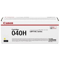 Canon 040H Yellow High Yield Laser Toner Cartridge