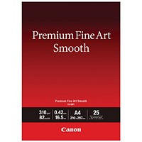 Canon Premium Fine Art A4 Smooth Paper (Pack of 25) 1711C001