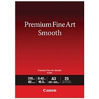 Canon Premium Fine Art Smooth A3 Paper (Pack of 25) 1711C003