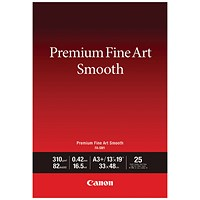 Canon Premium Fine Art Smooth A3 Plus Paper (Pack of 25) 1711C004