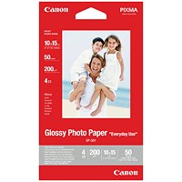 Canon Glossy Photo Paper 4 x 6in (Pack of 50) 0775B081