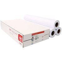 Canon Uncoated Standard Inkjet Paper, 610mm x 50m, 97003452, Pack of 3