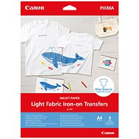Canon Light Fabric Iron-On Transfers A4
