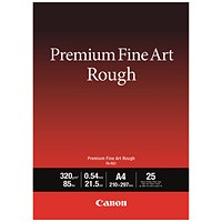 Canon FA-RG1 A4 Photo Paper Premium FineArt Rough (Pack of 25) 4562C001