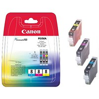 Canon CLI-8 CMY Ink Cartridge Multipack 0621B029