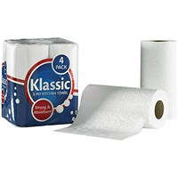 Klassic 2-Ply Kitchen Roll White, 24 Rolls