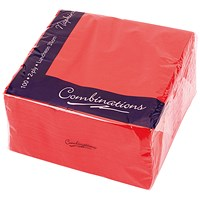 Maxima Napkins 330x330mm 2-Ply Red (Pack of 100)