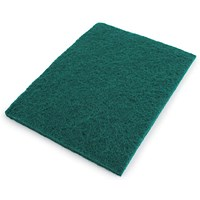 Economy Scourer Flat 150x115mm Green (Pack of 10) SP120