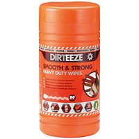 Dirteeze Smooth and Strong Heavy Duty Wipes 80 Sheet Tub