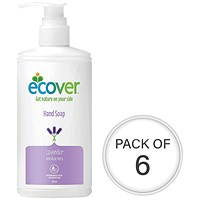 Ecover Hand Soap Pump Dispenser 250ml (Pack Of 6) 0604052