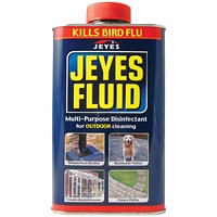 Jeyes Fluid Outdoor Disinfectant 1 Litre (Use on drains, patios and conservatories)