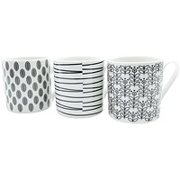Quality 12oz Black and White Mugs Designs may vary (Pack of 12)
