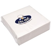 White 2-Ply Paper Napkins 400x400mm (Pack of 100)